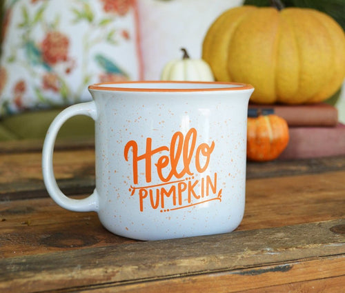 Fall Mug - Hello Pumpkin Ceramic Campfire Mug