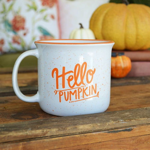 15 oz Fall Mug - Hello Pumpkin Ceramic Campfire Mug
