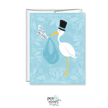 Special Delivery, Blue, Boy Baby Shower card