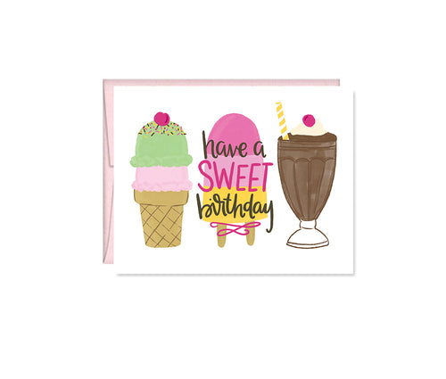 Have a Sweet Birthday, Birthday Treats greeting card