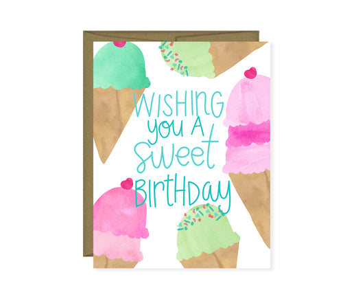 Wishing you a sweet birthday Ice Birthday card