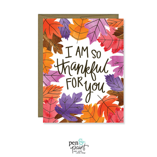 I'm so thankful for you card