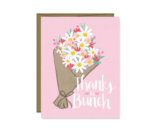 Thanks a bunch bouquet card