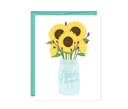 Thanks a bunch sunflower card