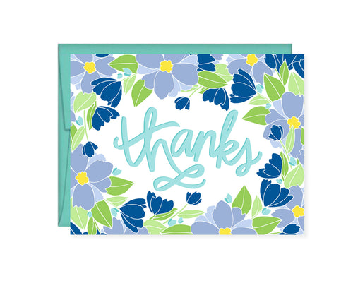 Thanks Floral Note card
