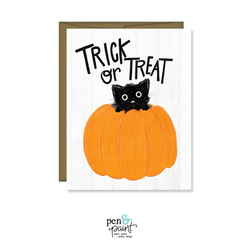 Trick or Treat Pumpkin card