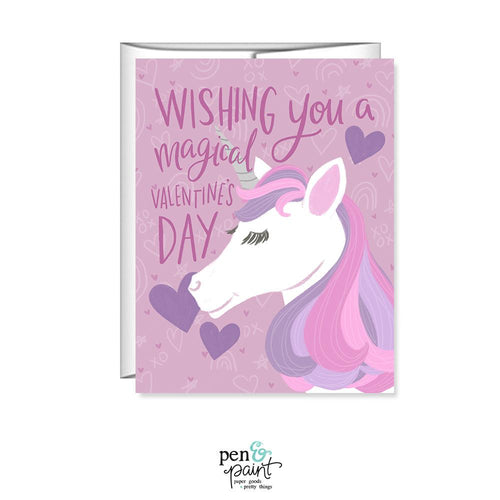 Unicorn Wishing you a magical Valentine's Day card