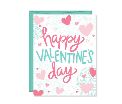 Happy Valentine's Day set of four cards
