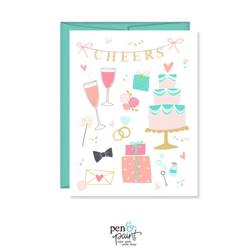 Wedding Cheers card