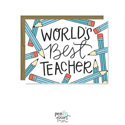 World's Best Teacher, Teacher Appreciation card