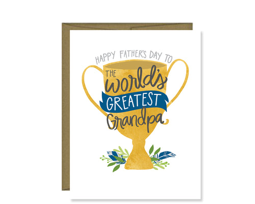 Happy Father's Day to the World's Greatest Grandpa card