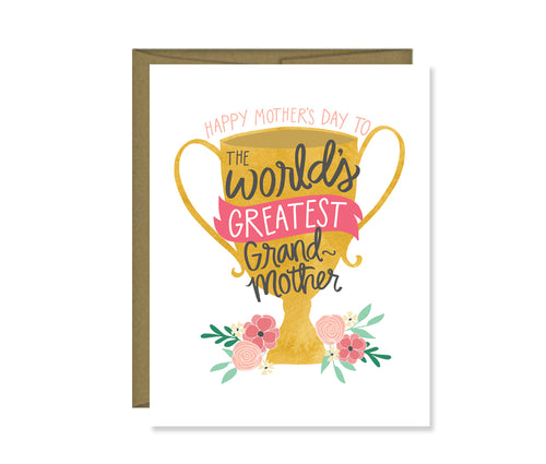 Happy Mother's Day to the World's Greatest Grandmother card