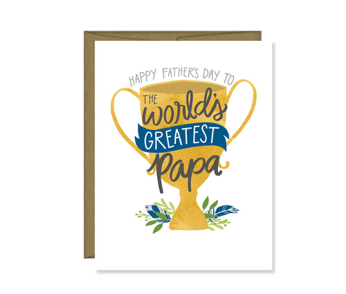 Happy Father's Day to the World's Greatest Papa card