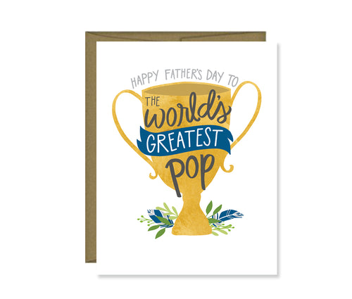 Happy Father's Day to the World's Greatest Pop card