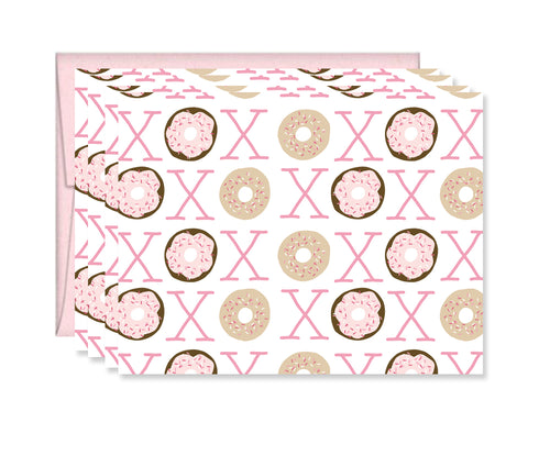 XOXO Donut card, set of four