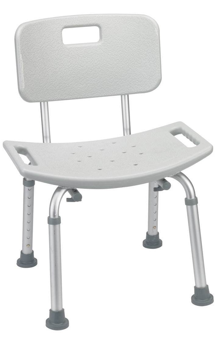 Aluminum Bath Chair - Shower Bench Chair With Handle - With Or Without Back Stool Safety Bathtub Seat by BodyHealt (With back)