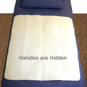 "BodyHealt Positioning Under Pad - Hidden Handles - 34"" x 36"" - Supports Up To 300 Lbs - Protects Bed Fabric - Machine Washable - Made In The USA"