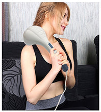 "Load image into Gallery viewer, Bodyhealt Portable Deep Tissue Hammer Massager - 3 Interchangeable Heads - Extra Long 11"" Handle - Ergonomic Shape - Adjustable Speed - Lightweight and Handy - Relieve Stress, Severe Muscle Tension"