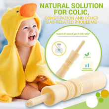 Load image into Gallery viewer, BodyHealt Baby Colic & Gas Relief - 20 Pack Hollow Tube All-Natural Solution - 100% Safe & Effective, Immediate Remedy/Solution for Colic, Constipation, Intestinal Gas & Bloating Problems