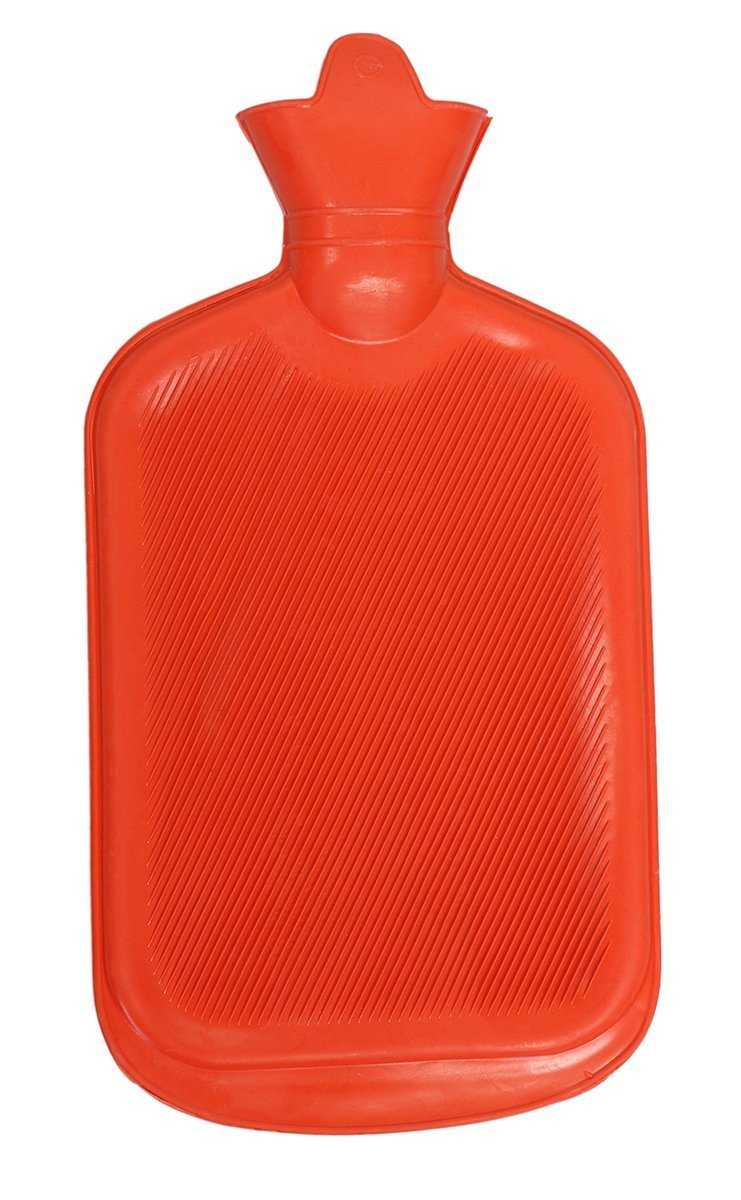 BODYHEALT Premium Classic Rubber Hot Water Bottle, Red, 1.3 Pound