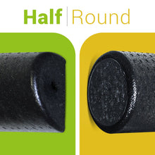 "Load image into Gallery viewer, BodyHealt High-Density Foam Roller (6"" x 12"", Half-Round)"