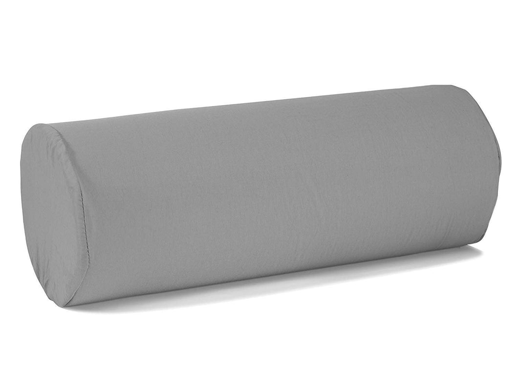 BodyHealt Roll Bolster Pillow, Lumbar Support Cushion for Office Chair, Car, or Bed. Cervical Neck Pillow for Spine & Neck Support. Firm Density, Memory Foam Pillow with Removable Cover, 5X12