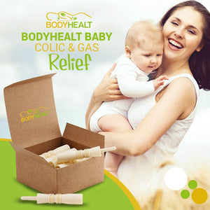 BodyHealt Baby Colic & Gas Relief - 20 Pack Hollow Tube All-Natural Solution - 100% Safe & Effective, Immediate Remedy/Solution for Colic, Constipation, Intestinal Gas & Bloating Problems