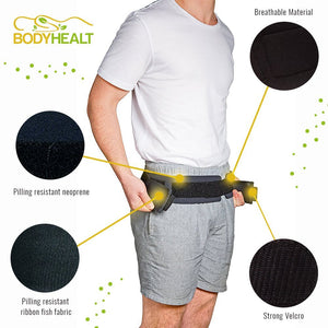 "Bodyhealt Comfortable Sacroiliac Joint Support Belt - Slimline Design - for Low Back and Pelvic Pain Relief - Hypoallergenic and Breathable Maternity (X-Large (Hips 46"" to 52""))"