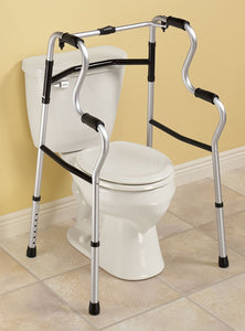 BodyHealt Easy to Rise Folding Walker - Toilet Safety Frame - Sit-to-Stand