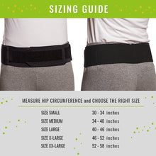 "Load image into Gallery viewer, Bodyhealt Comfortable Sacroiliac Joint Support Belt - Slimline Design - for Low Back and Pelvic Pain Relief - Hypoallergenic and Breathable Maternity (XX-Large (Hips 52"" to 58""))"