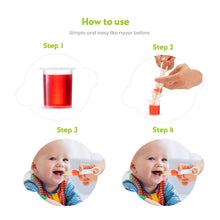 Load image into Gallery viewer, BodyHealt Baby Medicine Pacifier Dispenser with Oral Syringe | Safe Feeder |Liquid Leak Proof | Also to Feed Baby Liquid Food | for Baby's 0-18 Months