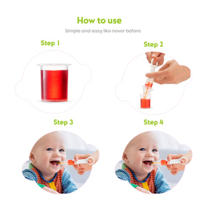 BodyHealt Baby Medicine Pacifier Dispenser with Oral Syringe | Safe Feeder |Liquid Leak Proof | Also to Feed Baby Liquid Food | for Baby's 0-18 Months