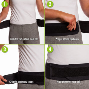 Bodyhealt Comfortable Sacroiliac Joint Support Belt - Slimline Design - for Low Back and Pelvic Pain Relief - Hypoallergenic and Breathable Maternity
