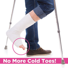 Load image into Gallery viewer, BodyHealt Adult Non-Slip Cast Sock Toe Covers | Keep Your Toes Warm | Keeps Your Cast Clean | Slip Resistant Safety Tread, Washable, Latex-Free