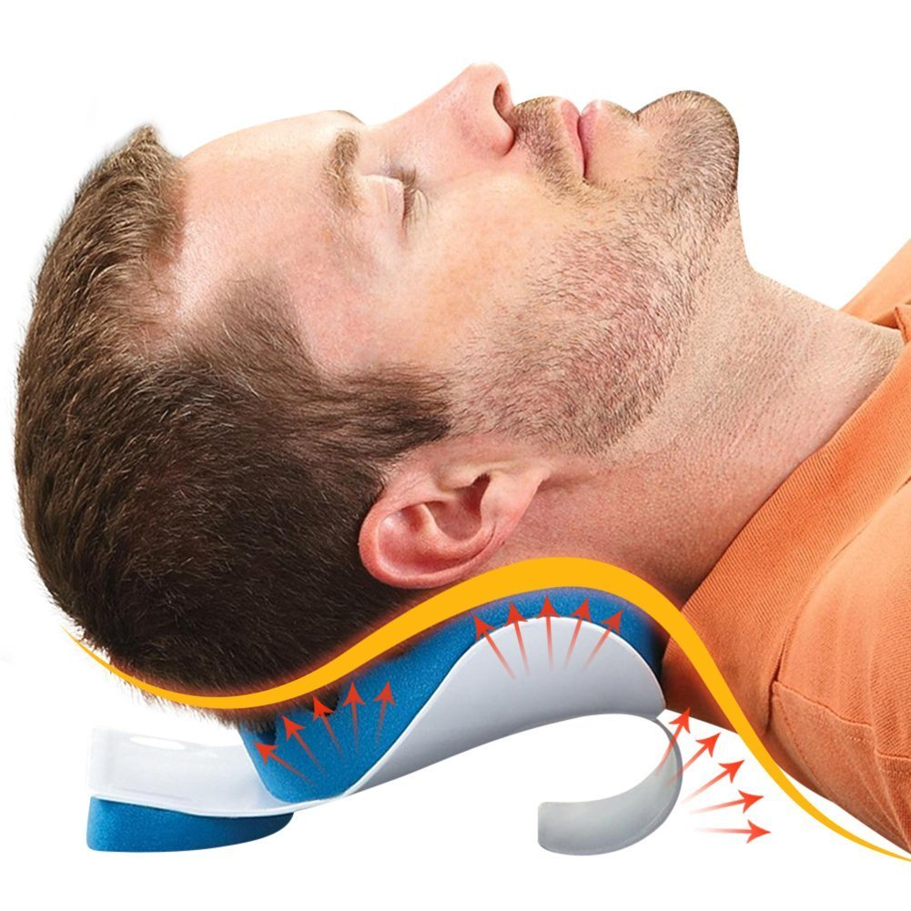 BodyHealt TMJ Pain Relief Pillow Neck and Shoulder Massage Relaxer Traction Device - Chiropractic Pillow for Pain Relief Management and Cervical Spine Alignment