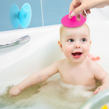 Load image into Gallery viewer, BodyHealt Baby Bath Silicone Cradle Brush - 2 Color Pack Premium Quality - Perfect for Therapeutic Skin & Scalp Massage, Promotes Skin Metabolism for Baby & Infant