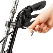 Load image into Gallery viewer, Bodyhealt Adjustable Cane Holder for Most Walkers, Wheelchairs, Rollators, and Knee Scooters, Crutches - Black