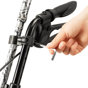 Bodyhealt Adjustable Cane Holder for Most Walkers, Wheelchairs, Rollators, and Knee Scooters, Crutches - Black