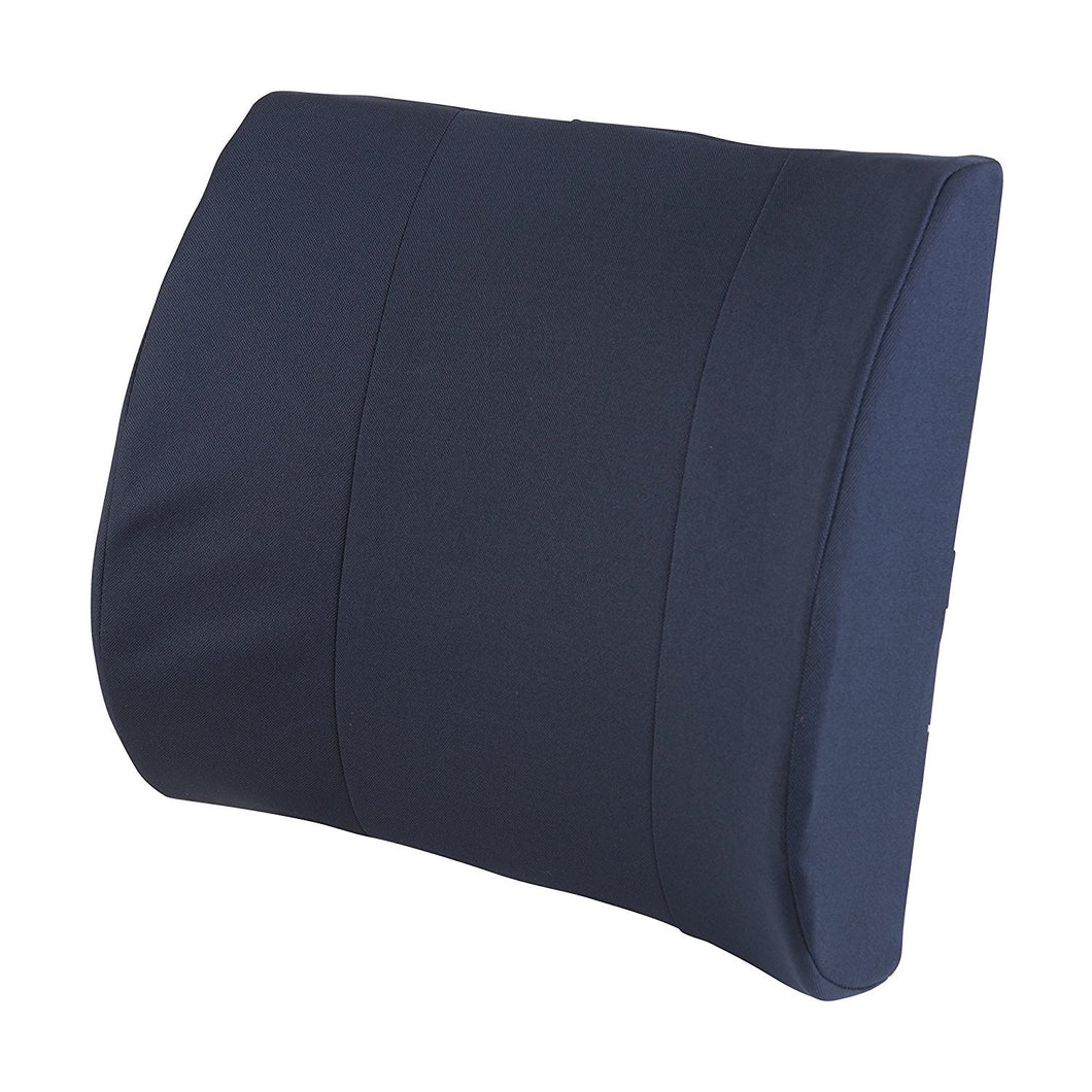 Bodyhealt Memory Foam Back Cushion - Premium Lumbar Support Pillow for Lower Back Pain Relief - Soft & Firm, Comfortable, Orthopedic Design to Improve Posture and Help Soothe and Protect Lower Back