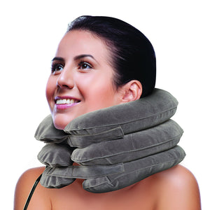 BodyHealt Cervical Neck Traction Device - Inflatable & Adjustable Neck Stretcher Collar Pillow - Great for Chronic Neck, Back & Shoulder Pain Relief