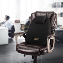 Load image into Gallery viewer, Ergonomic Orthopedic Back Support Backrest - Improves Posture, Relieves Back Pain & Discomfort, Includes Adjustable Lumbar Pad - by BodyHealt BHLS101