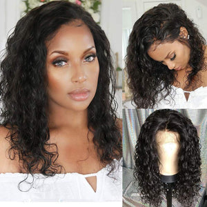 Short Water Wave Wig-150% Density,13x6 Lace Front Wig, 360 Lace Frontal Wig, Full Lace Wig - Estelle Wig