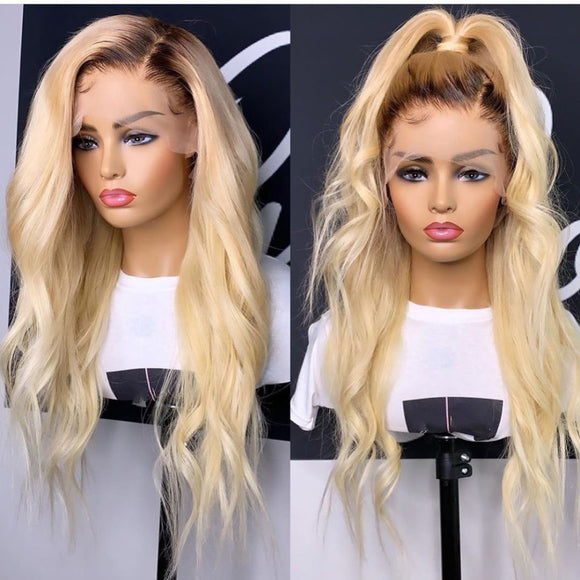 Ombre #4#613 Full Lace Straight Wigs - Estelle Wig