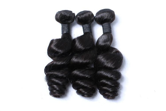 3 Bundles a lot 8A grade brazilian Loose Wave  Virgin Hair - Estelle Wig