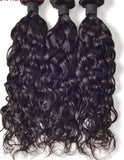 3 Bundles Natural Wave Hair with 4x4 Lace Closure a Lot - Estelle Wig