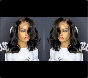 Short Body Wave Bob Cut 13x6 Lace Front Wig - Estelle Wig