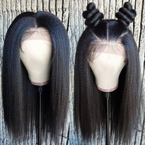 Kinky Straight Lace Wig-150% Density,13x6 Lace Front Wig, 360 Lace Frontal Wig, Full Lace Wig - Estelle Wig