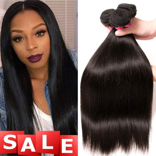 3 Bundles a Lot 8A Grade Brazilian Straight Virgin Hair - Estelle Wig