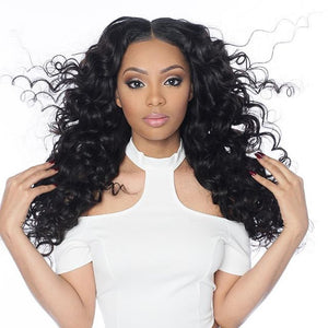 3 Bundles a Lot 8A Grade Brazilian Deep Wave Virgin Hair - Estelle Wig