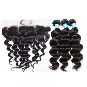 3 Bundles Exotic Wave Hair with 13x4 Lace Frontal a Lot - Estelle Wig